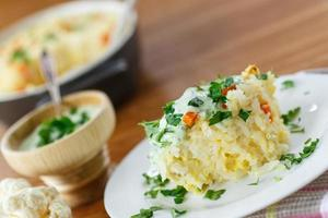 groente rijst braadpan foto