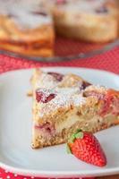 aardbeien cheesecake foto