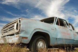 verlaten Amerikaanse vrachtwagen foto