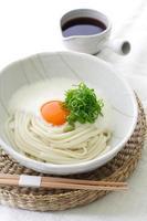 Japanse koude udon-noedels foto