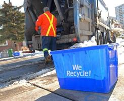 recycle dag foto