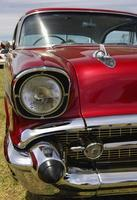 aangepaste verfbeurt op hot rod klassieke auto foto