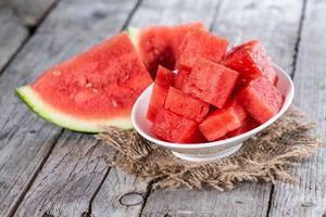 stukjes watermeloen foto