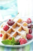 wafels met fruit foto