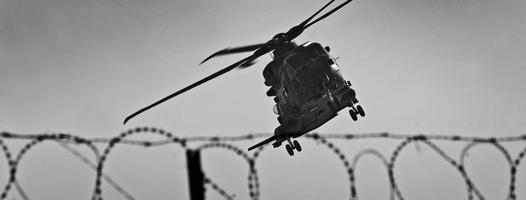 raf merlin helikopter, lashkar gah stad, provincie helmand, afghanistan foto