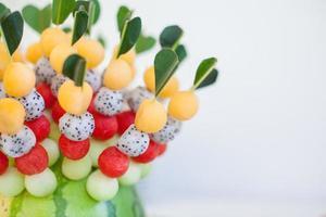fruit canapeetjes foto