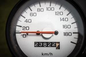kilometerteller motorfiets foto