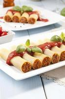 cannelloni op plaat