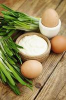 mayonaise en ramson foto