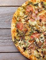 champignons pizza foto