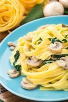 pasta met champignonspinazie foto