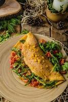 vegetarische omelet foto