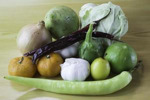 knoflook en groente foto