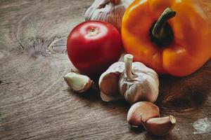peper, tomaten en knoflook foto