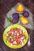 watermeloen, kaas en rucola foto