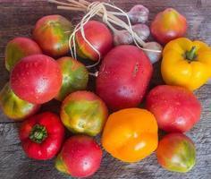 verse groenten uit eigen tuin foto