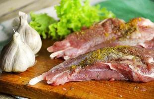 vers rauw vlees kalkoenen foto