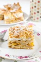 tutti frutti cake - shortcake met fruit en meringue foto
