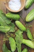 komkommers voorbereiden op beitsen