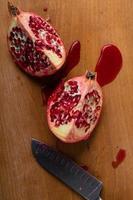 gesneden granaatappel