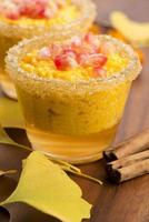 Pompoenpudding met tapiocaparels foto