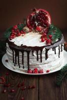heerlijke taart met slagroom en chocolade