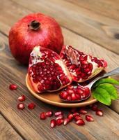 sappig granaatappelfruit foto