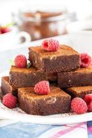 zelfgemaakte chocolade brownies foto