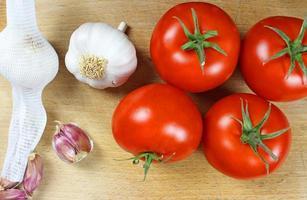tomaten en knoflook foto