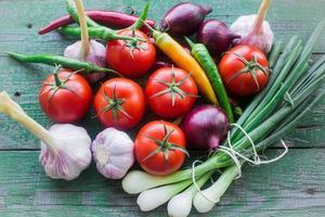 verse groenten uit eigen tuin