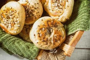 huisgemaakt brood bagel ontbijt knapperig foto