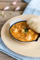 Indiase balti kip curry foto