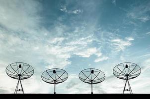 satellietschotels voor telecommunicatie foto