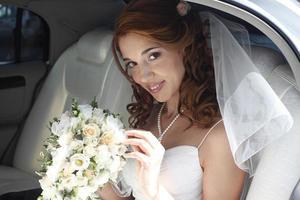 gelukkige bruid foto