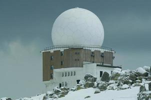 doppler radarstation. foto