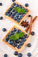 bramen taart met frambozen