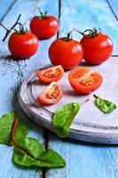 tomaten en groene sla foto