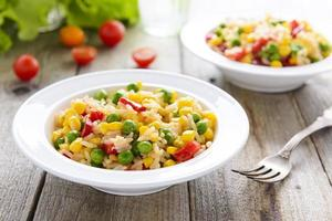 rijst met groenten foto