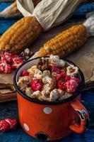 hoofden van kool herfst maïs foto