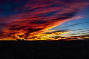 landschap van zonsopgang in New Mexico foto