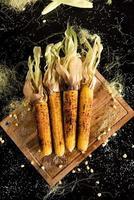 gegrilde maïs foto