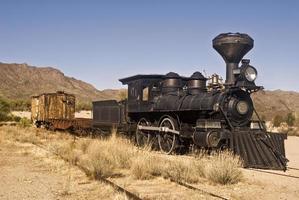 oude westerse trein foto