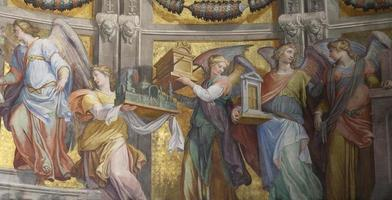 frescoe met engel. santa maria in trastevere (rome) foto