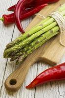 asperges en paprika's