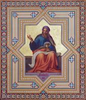 Wenen - fresco van de profeten van maleachi foto