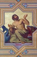 wenen - fresco van profeet jonah foto