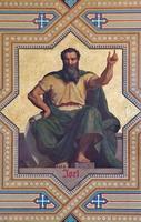 Wenen - fresco van de profeet Joël foto