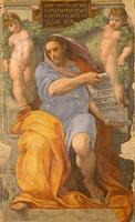 Rome - de profeet Jesaja fresco van Raffaello