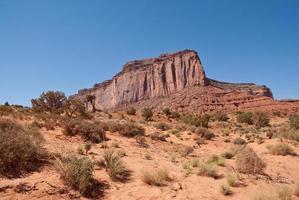 mitchell mesa in de woestijn foto