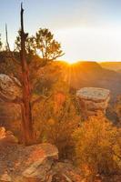 Grand Canyon National Park - zonsondergang foto